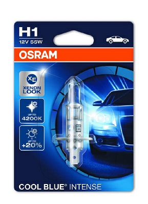 OSRAM H1 COOL BLUE INTENSE 12V/55W+120% 1KUS