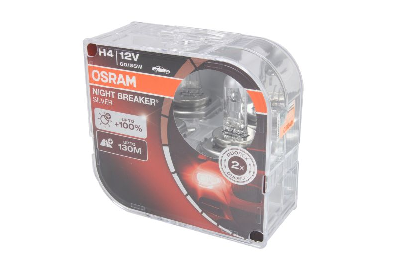 OSRAM H4 NIGHT BREAKER SILVER 12V 60/55W +100% 2ks.
