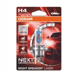 OSRAM H4 NIGHT BREAKER LASER 12V 60/55W +150% 1KS.