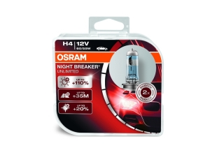 OSRAM H4 NIGHT BREAKER UNLIMITED 12V 60/55W +110%